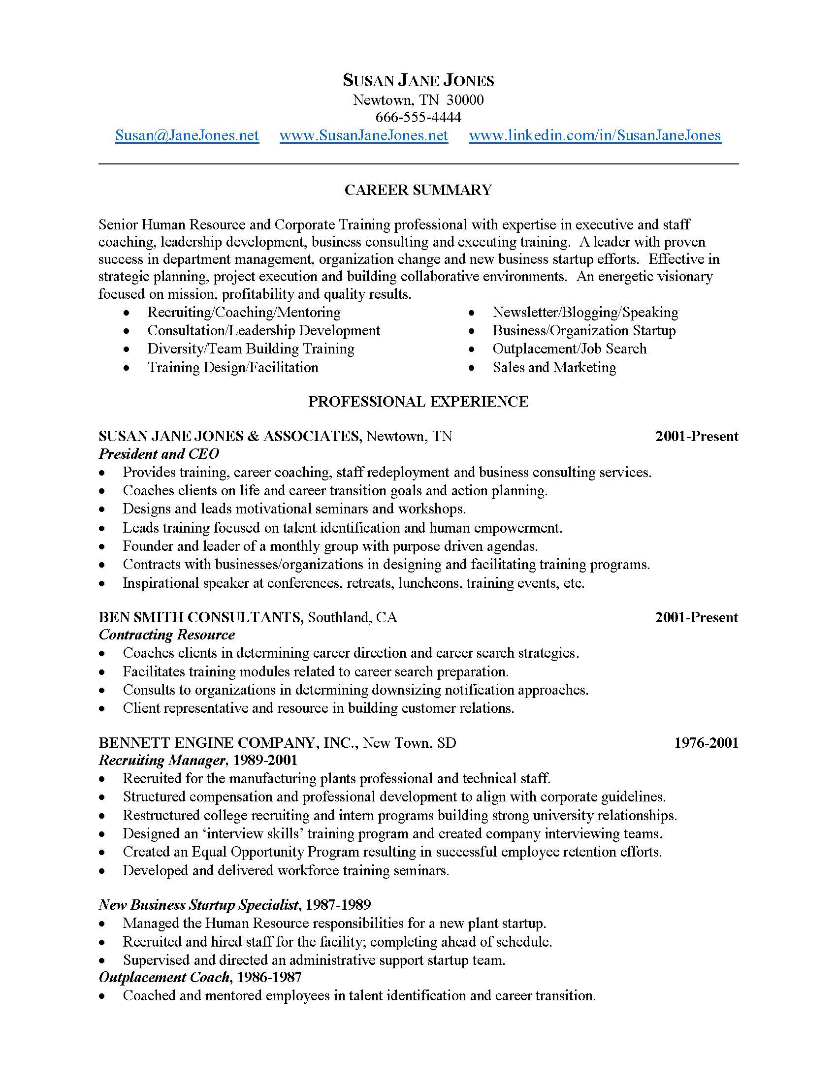 Resume Sample by Patricia Leonard