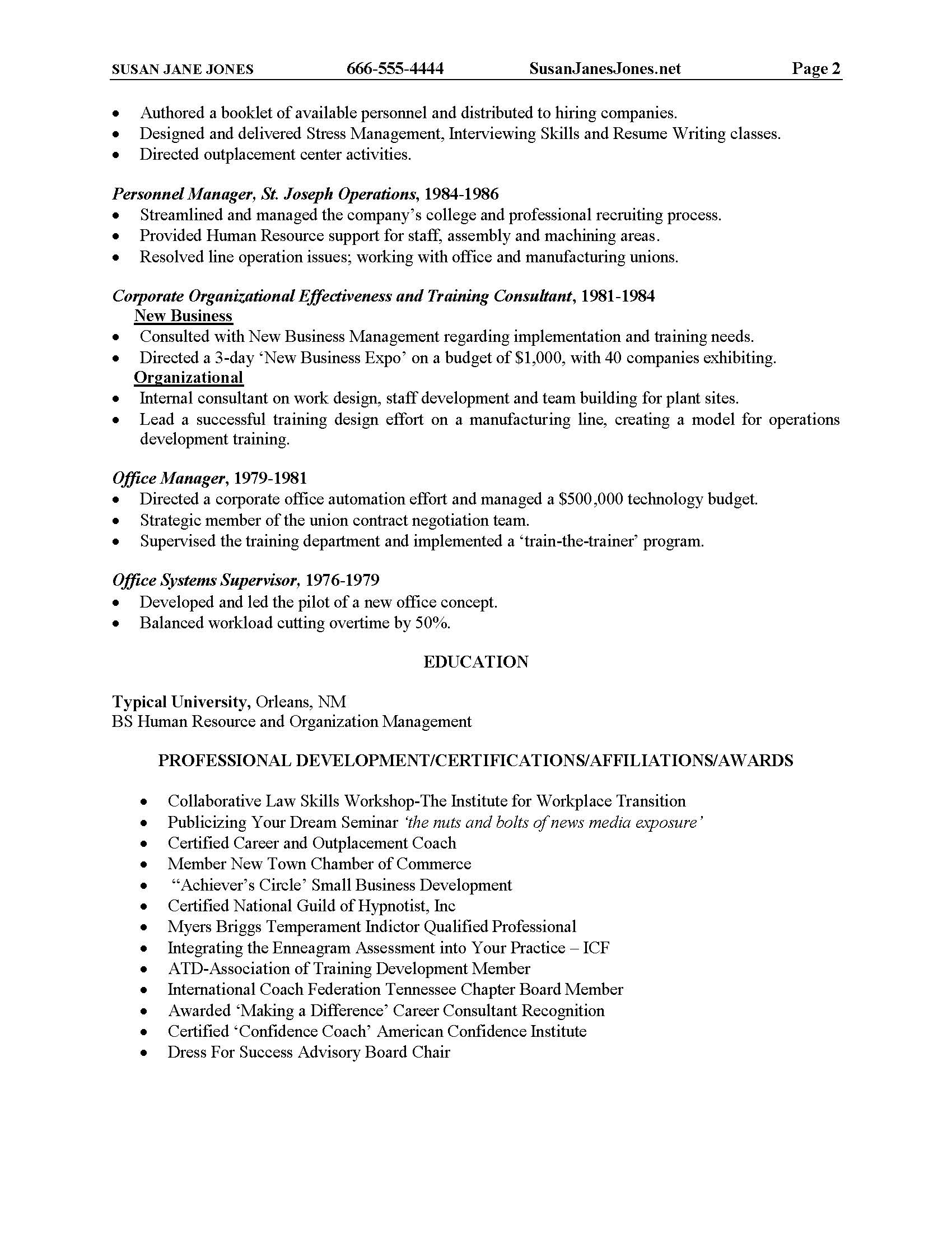Resume Sample 2_Page_2  Resume Writing Classes